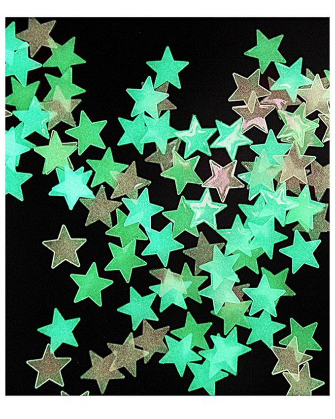 Shopya Luminous Wall Stickers Home Glowing Stars 100Pcs