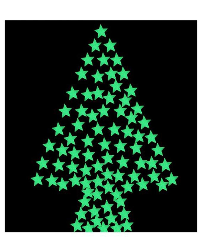 Shopya Luminous Wall Stickers Home Glowing Stars 100Pcs