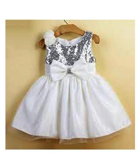 e1af11d672fa7 FashionValley Elegant Champagne Designer Frock For Baby Girl (0099)