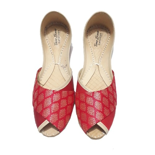 Shop Leather Khussa for Women-Multicolor Online in