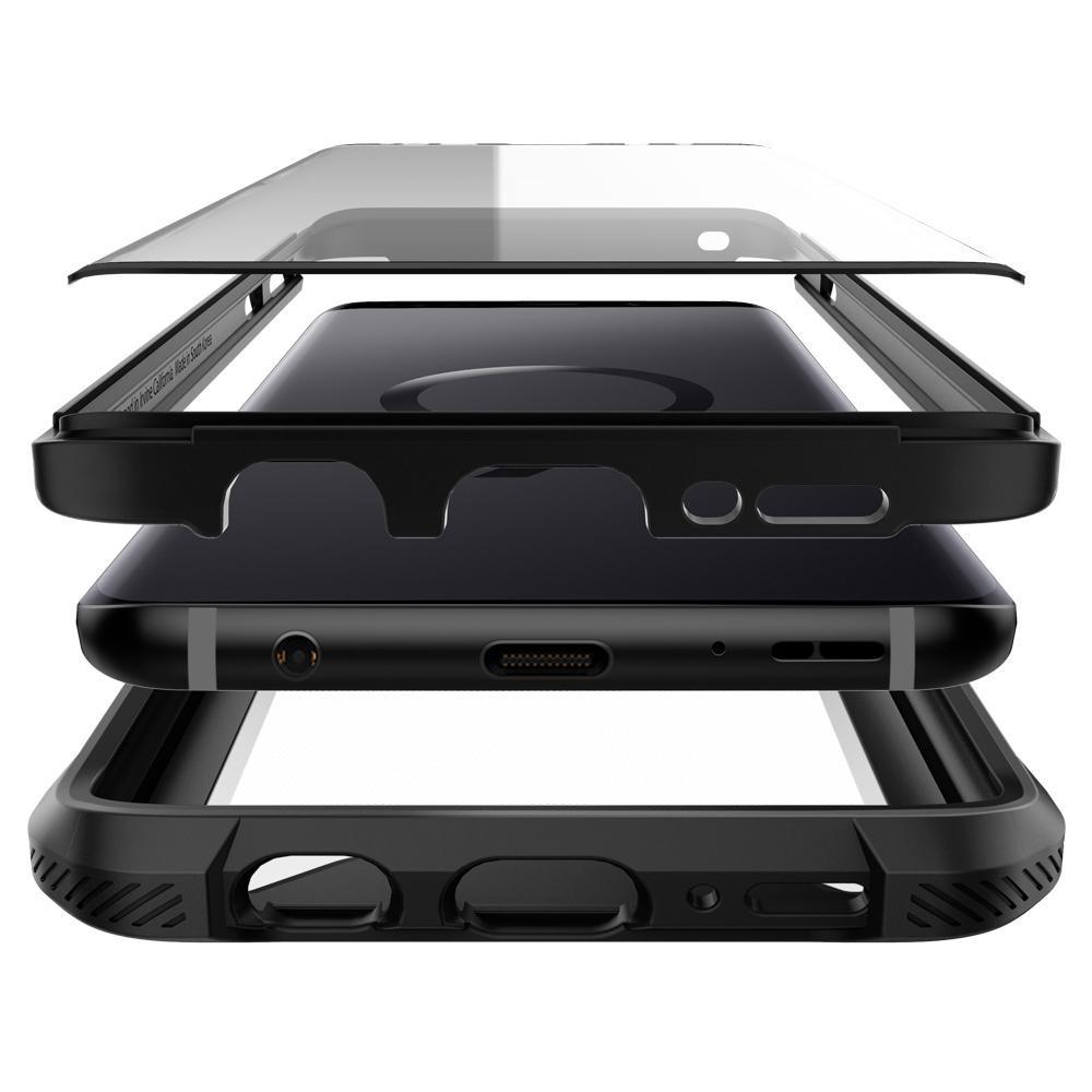 separation shoes 91448 d2be2 Spigen Hybrid 360 Black Case For Galaxy S9+