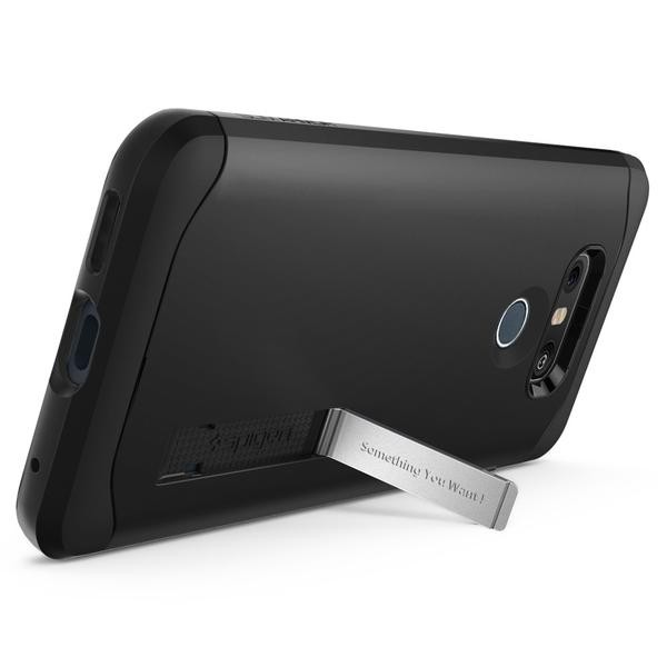 new style a96b9 3d9b1 Spigen Slim Armor Black Case For LG G6