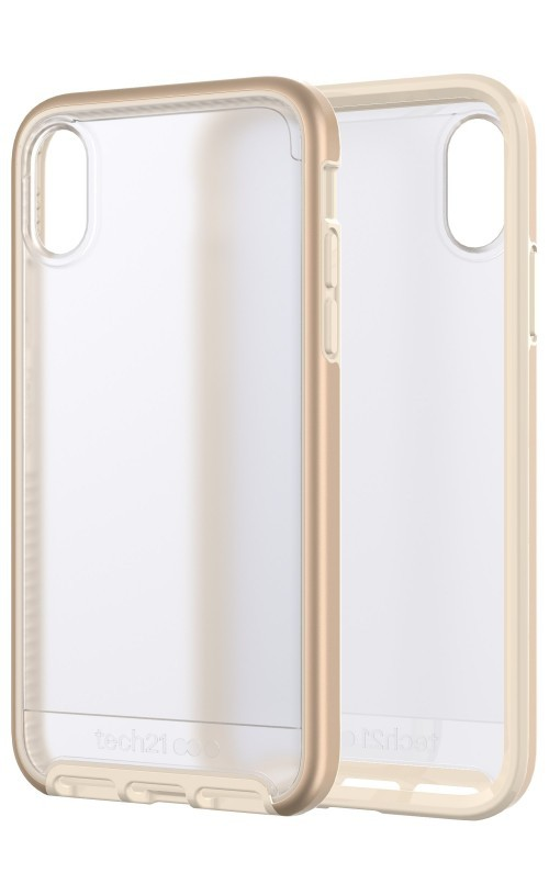 newest ac3b5 0b55f Tech21 Evo Elite Gold Case for iPhone X/XS