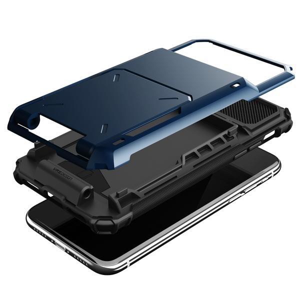 finest selection f630c aa316 VRS Design Damda Folder Series Deep Sea Blue Case For iPhone X/XS