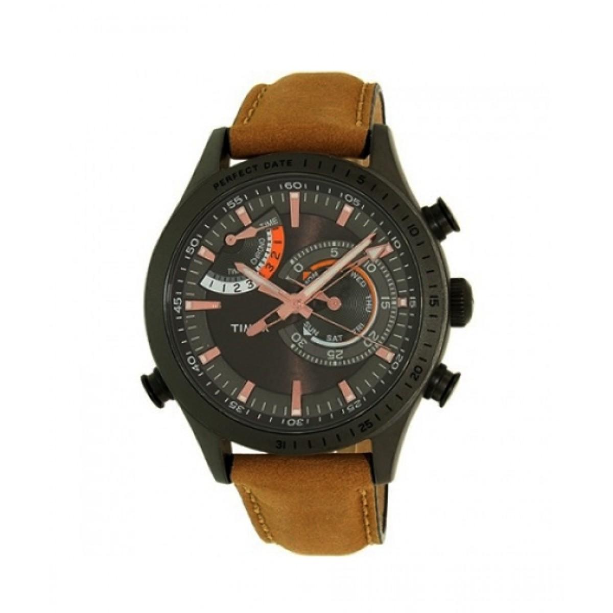ba3da7c4b Timex Men's Watch Price in Pakistan   Buy Timex Intelligent Quartz Chrono Leather  Band Men's Watch (TW2P72500DH)   iShopping.pk