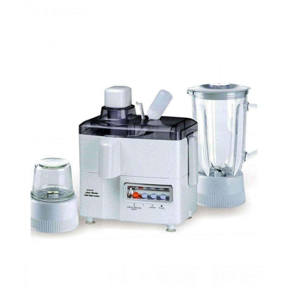 National Multifunction 3-in-1 Juicer Blender & Grinder White (JPN-176)