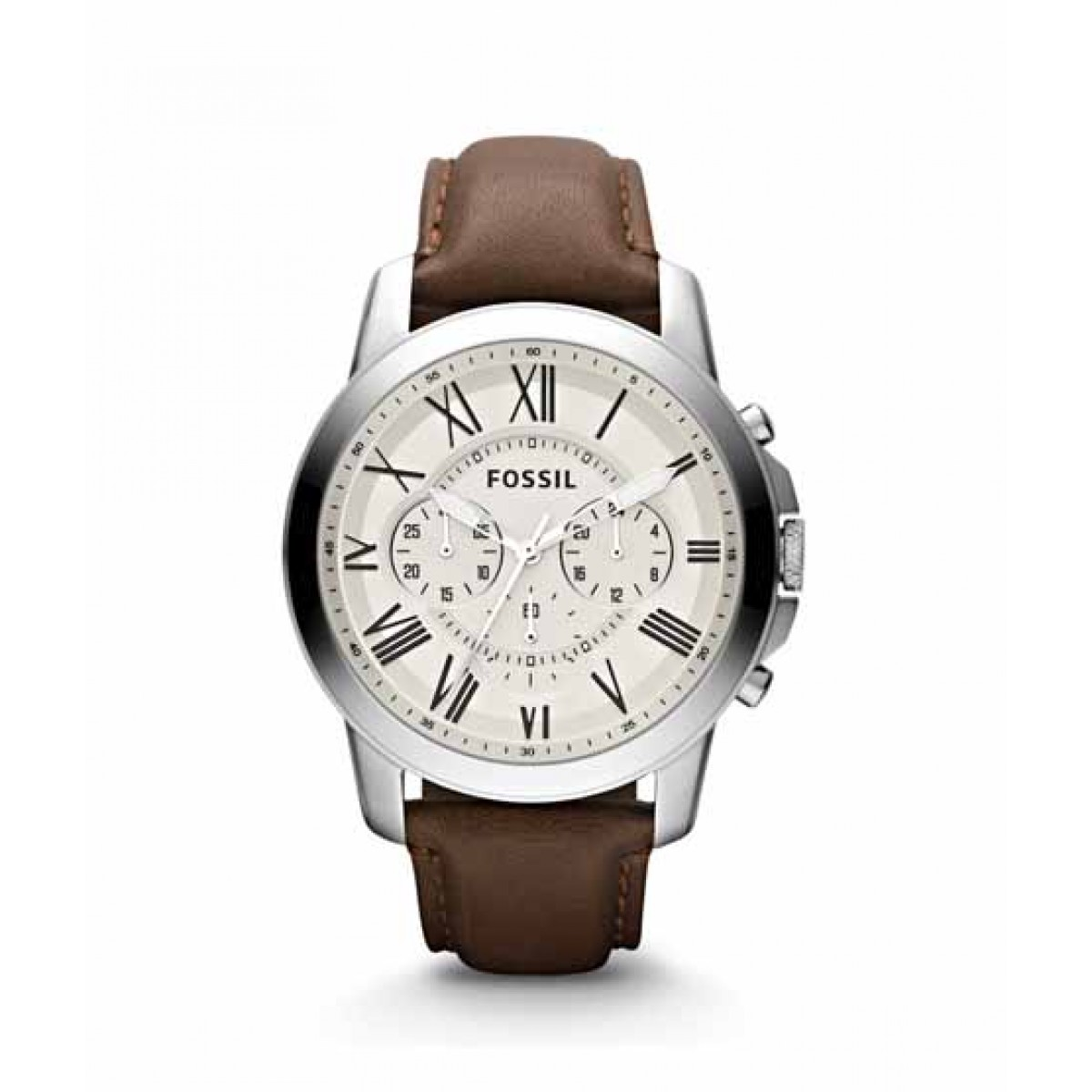 Fossil Grant Chronograph Men's Watch Brown Leather (FS4735P)