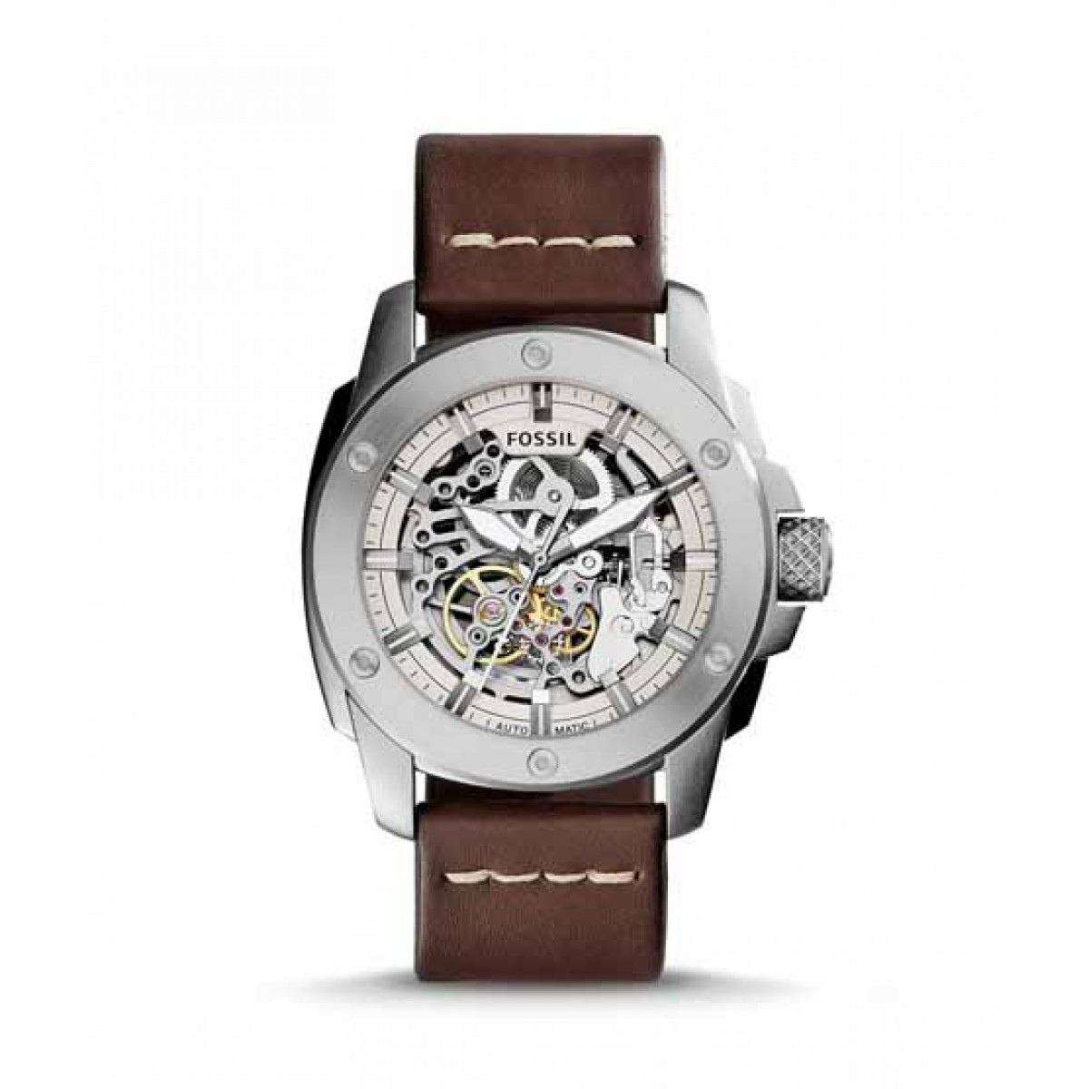 Fossil Modern Machine Automatic Men's Watch Brown Leather (ME3083P)