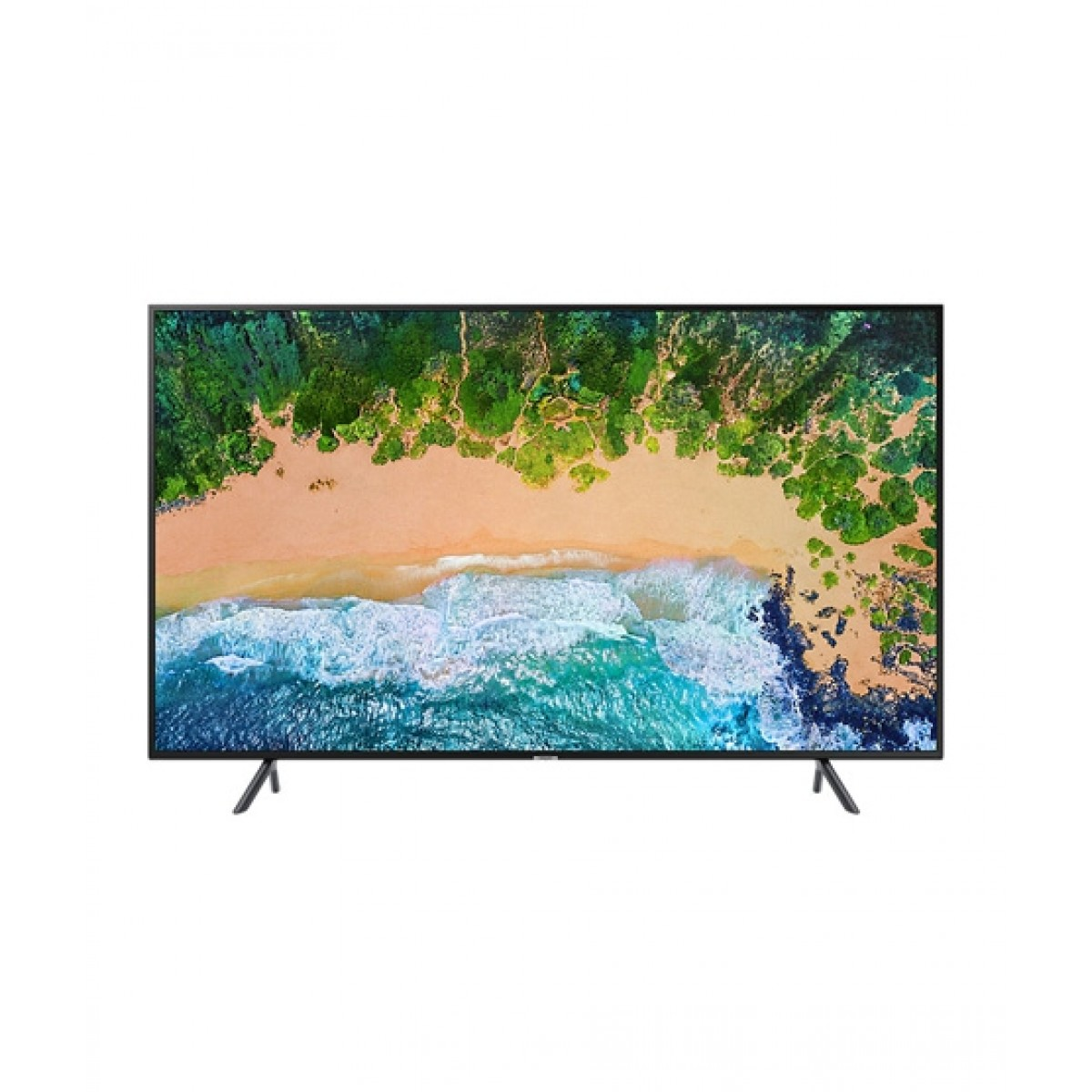 "Samsung 55"" 4K UHD Smart LED TV (55NU7100) - Without Warranty"