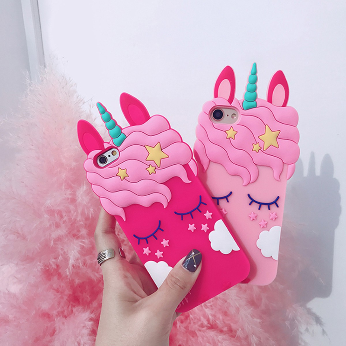 the latest 0adc1 e02ab 3D Colorful Unicorn Case Horse Cute Cartoon Silicone Soft Phone Case For  Iphone 6, Iphone 7, Iphone 8 Plus, Iphone X
