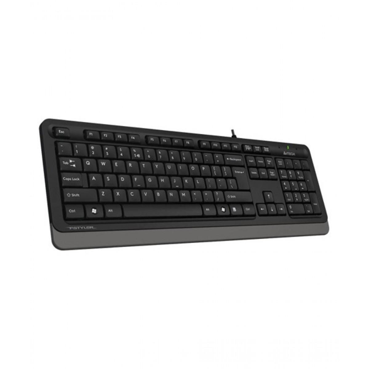 Image result for A4Tech Fstyler Sleek Multimedia Keyboard Grey (FK10)