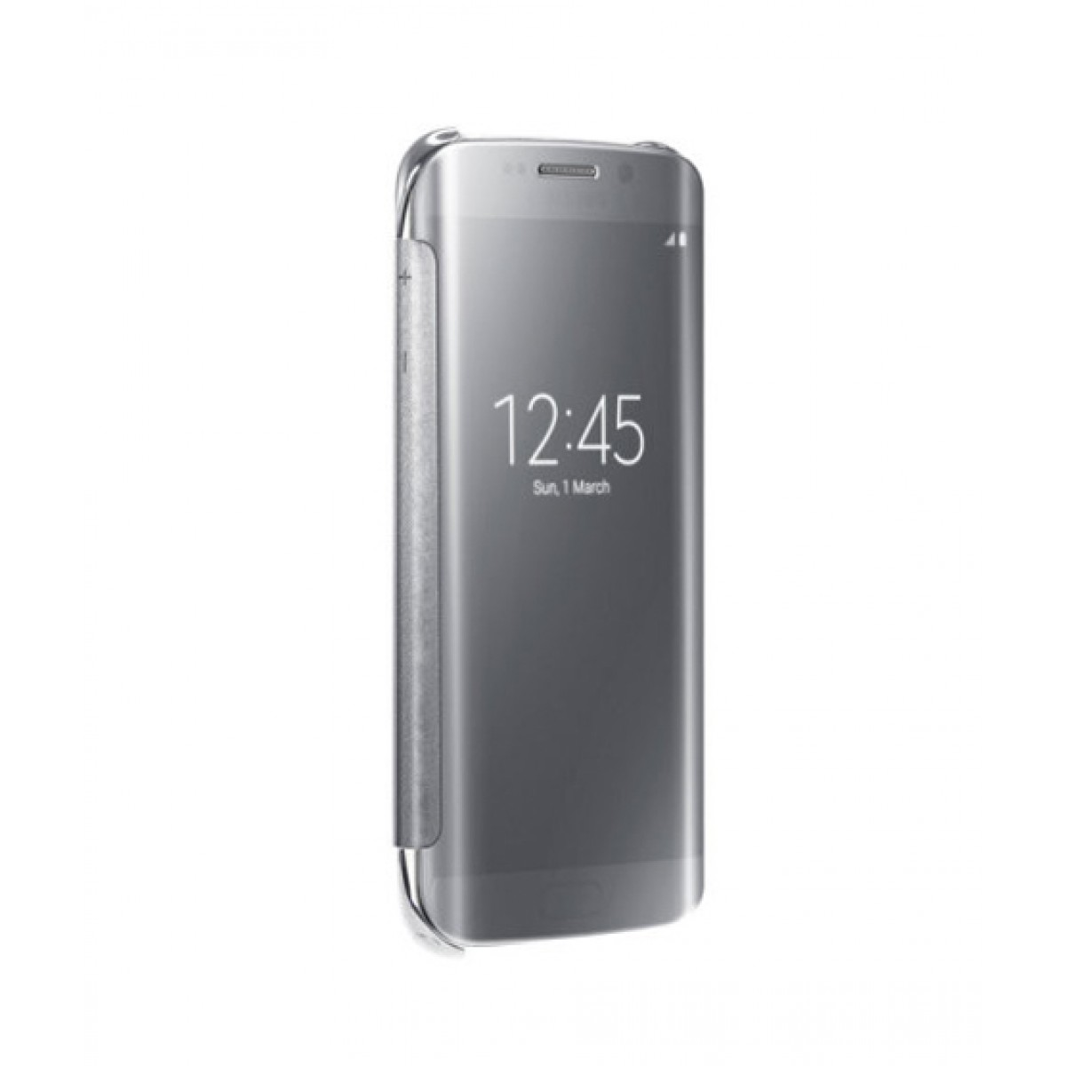 release date: 28f89 3d767 Samsung Clear View Silver Case For Galaxy S6 Edge