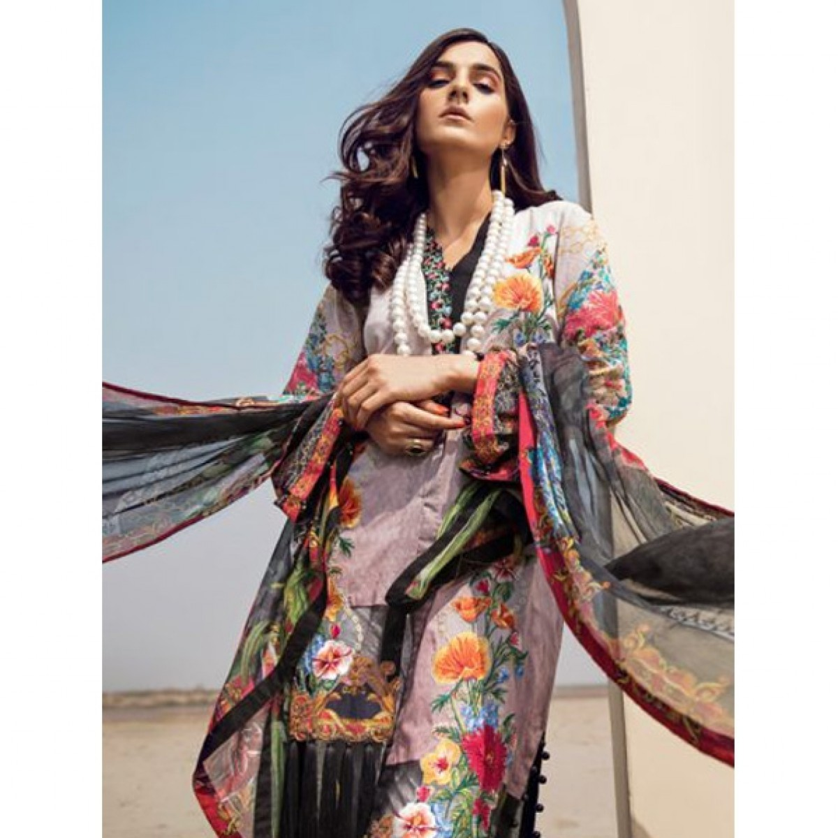 0a87658da0 Adan Libas Women's Lawn Collection 2018 Price in Pakistan   Buy Adan Libas  Chained To You Women's Lawn Collection 2018   iShopping.pk