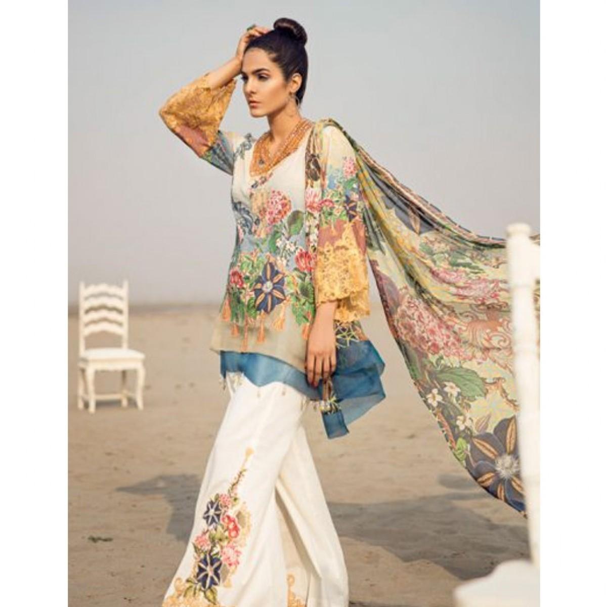 22f3fa33a2 Adan Libas Women's Lawn Collection 2018 Price in Pakistan   Buy Adan Libas  Splendid Baroque Women's Lawn   iShopping.pk
