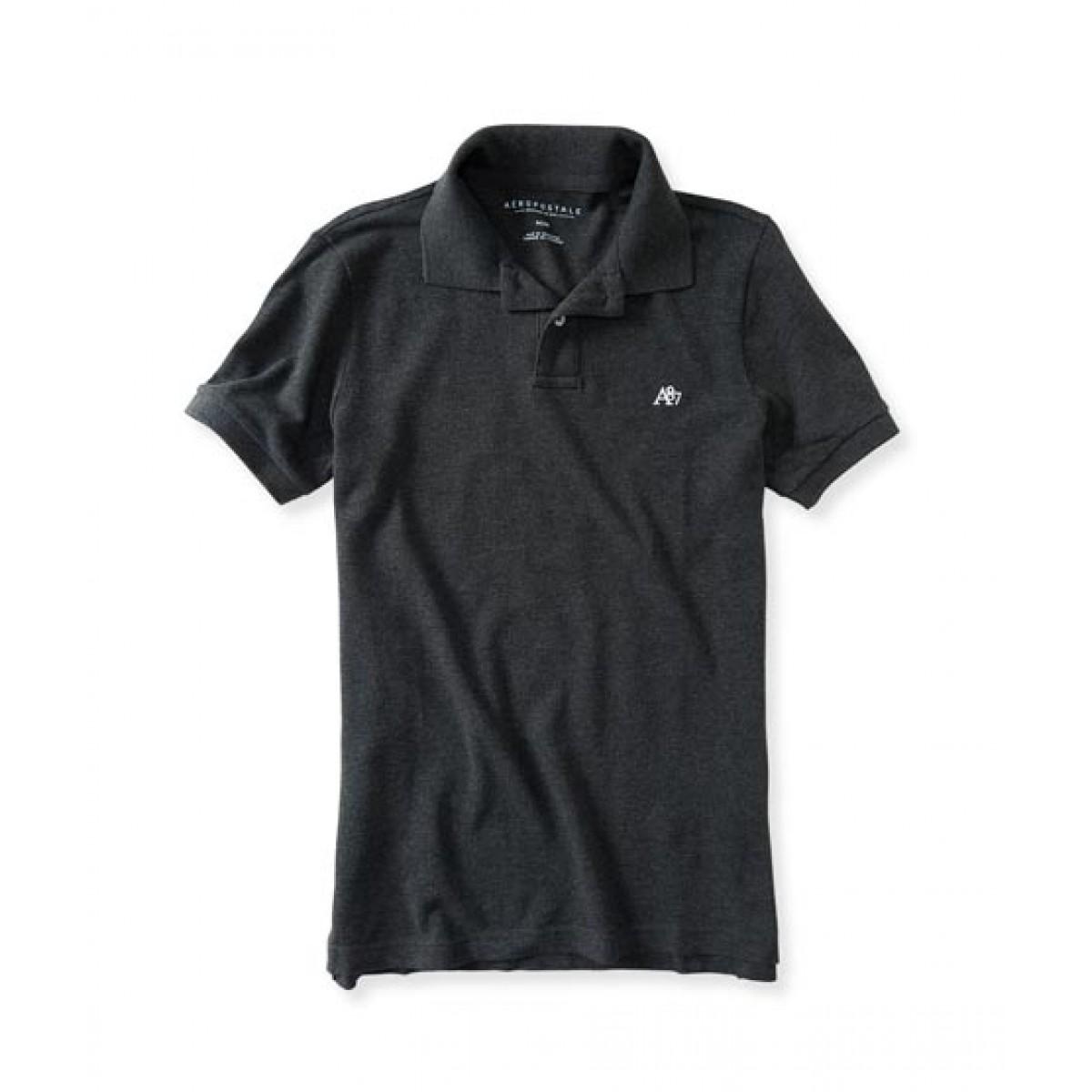 7462db8217b Aeropostale Polo shirt Price in Pakistan | Buy Aeropostale A87 Solid Logo  Pique Polo shirt-Charcoal Heather Grey | iShopping.pk