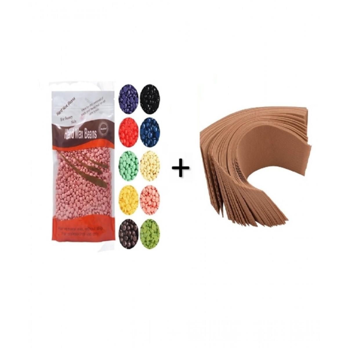 Afreeto Hard Wax Beans With 100 Wax Strips