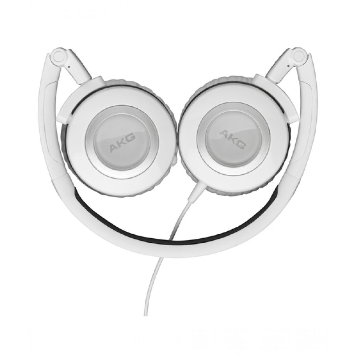 AKG K 430 Foldable Mini On Ear Headphones White