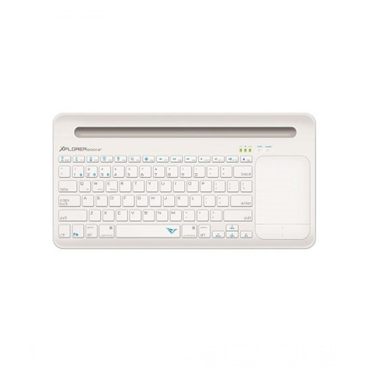 Alcatroz Xplorer Dock 2 Bluetooth Keyboard White/Light Grey