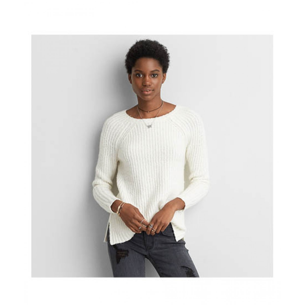 154c851ce2c8a American Eagle AEO Women's Sweater Price in Pakistan | Buy American Eagle  Ahh-Mazingly Soft Jegging Sweater Cream | iShopping.pk