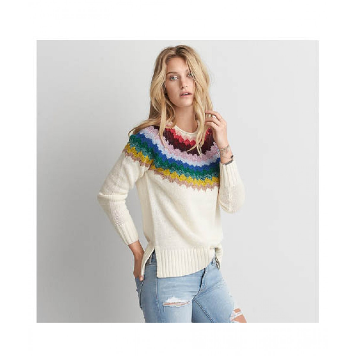 dcb11c698ed56 American Eagle AEO Patterned Women s Sweater Price in Pakistan