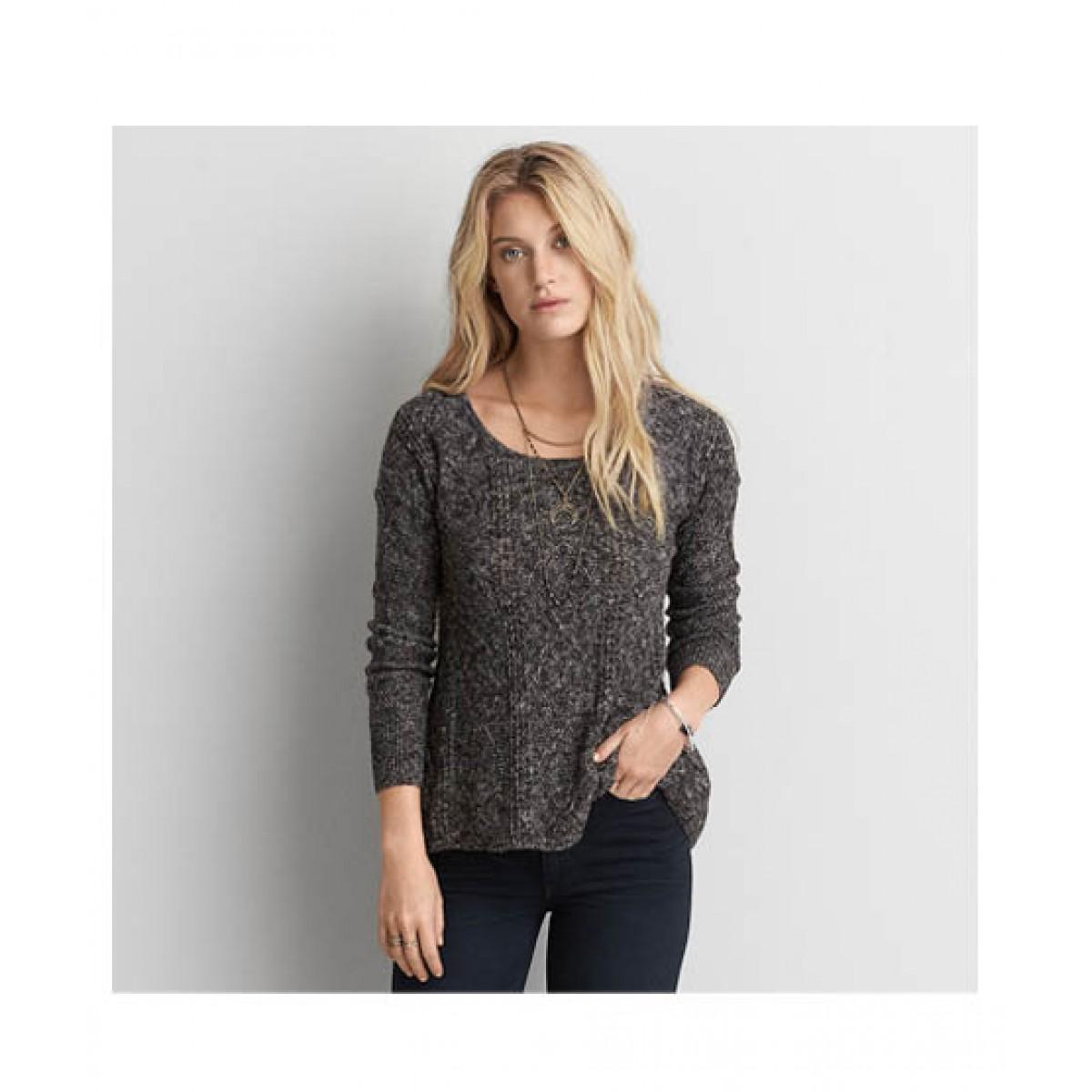 da702bdf0a906 American Eagle AEO Jegging Women's Sweater Price in Pakistan | Buy American  Eagle Textured Sweater Charcoal | iShopping.pk
