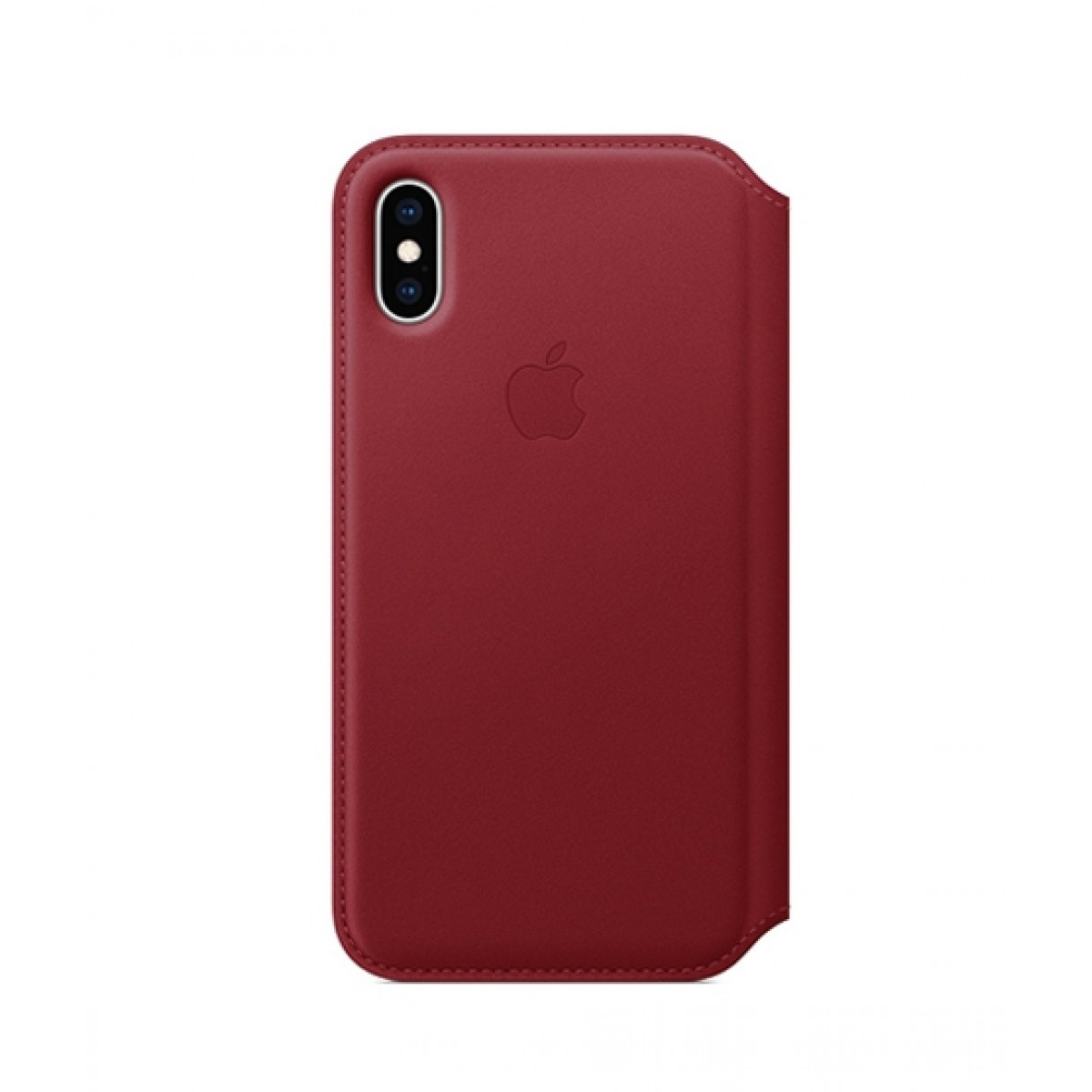 promo code 64ab5 a5eaf Apple Leather Folio Red Case For iPhone XS
