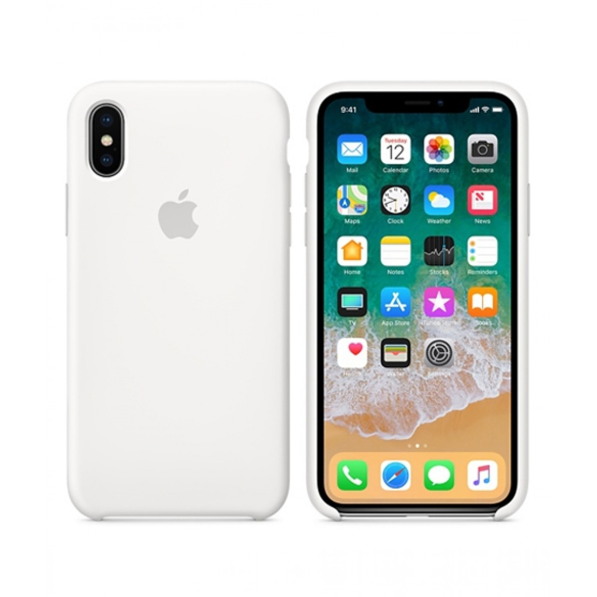 wholesale dealer 59548 1ac40 Apple Silicone Case For iPhone X/XS - White