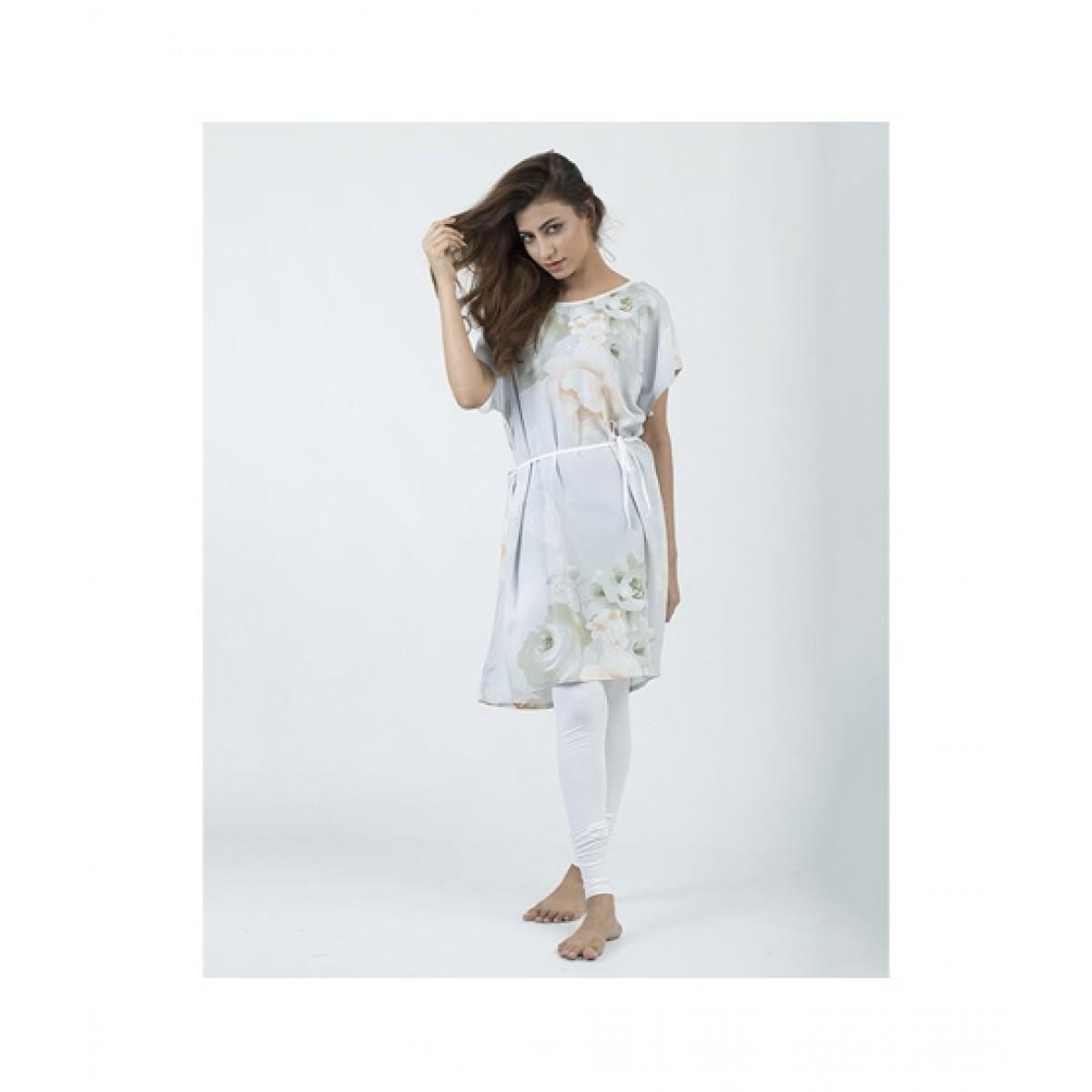 Asaan Buy Cotton Slim Fit Sleeveless Night Shirt For Women - Orange