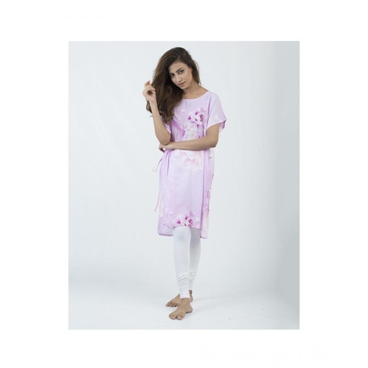 Asaan Buy Cotton Slim Fit Sleeveless Night Shirt For Women - Pink
