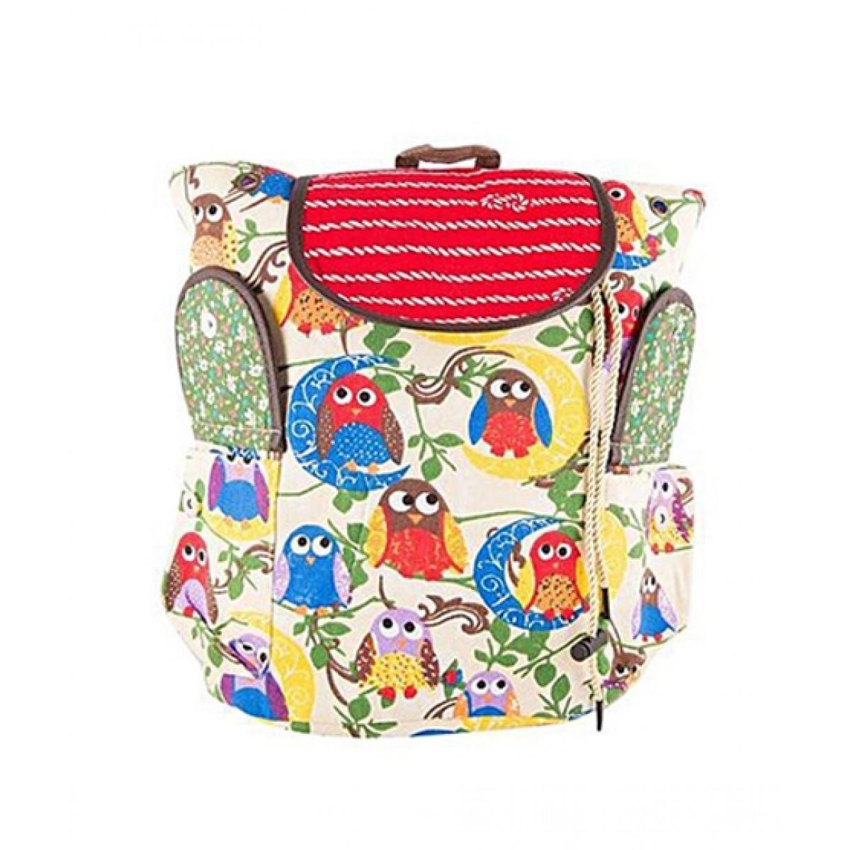 Asaan Buy Parrots School Backpack Off White