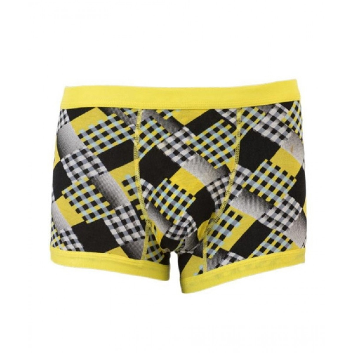 Asaan Buy Super Cotton Stretchable Fancy Boxer For Men Yellow - Pack Of 3