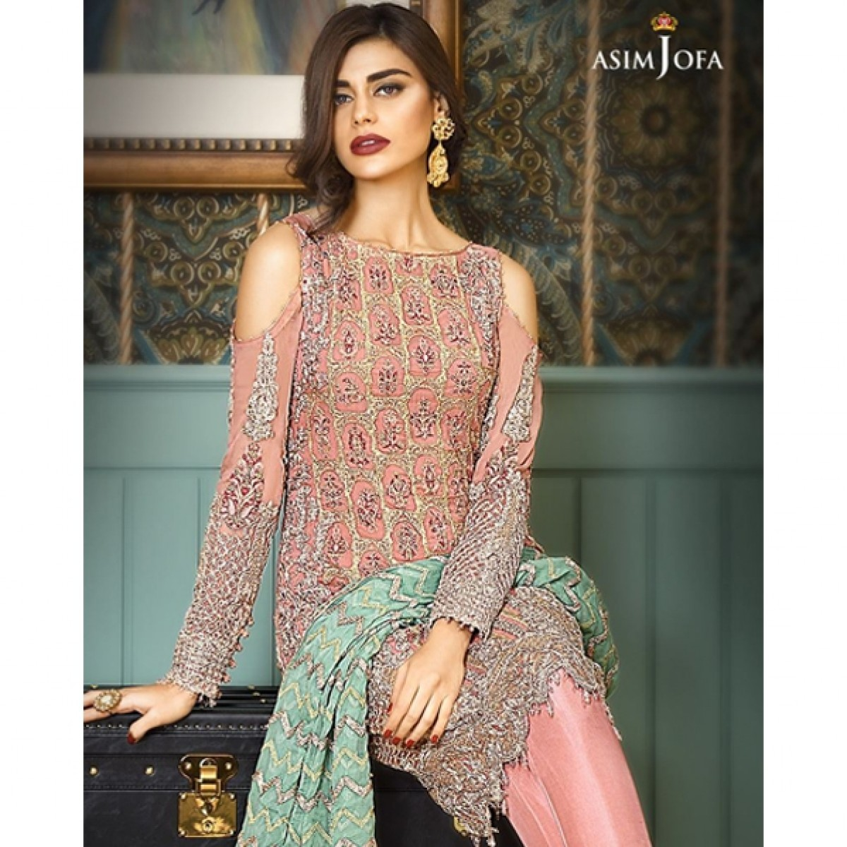 ae8a741dc0 Asim Jofa Mysorie Chiffon Collection Vol-4 Price in Pakistan   Buy Asim Jofa  2017 Collection Vol-4 (AJC-06A)   iShiopping.pk