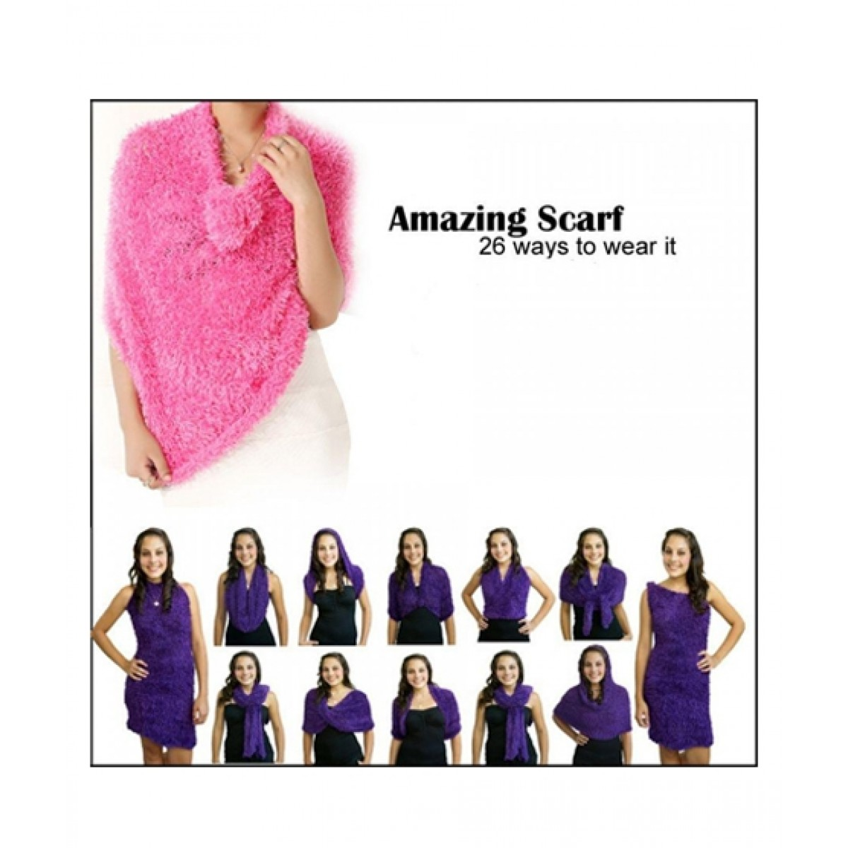 Attari Amazing Scarf 26 Ways To Wear (0118)
