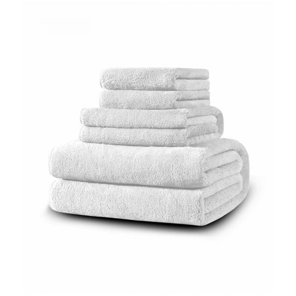 SoftSiesta Luxury Towel White Pack of 06