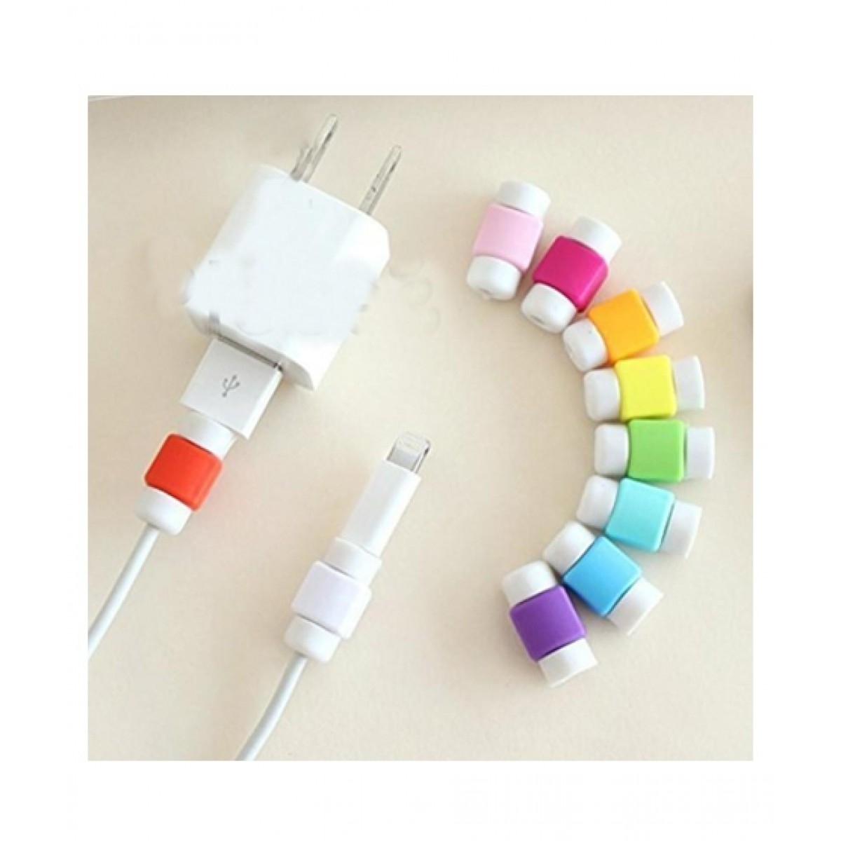 BazingaPk Lightning Data Cable Breakage Protector For iPhone - Pair