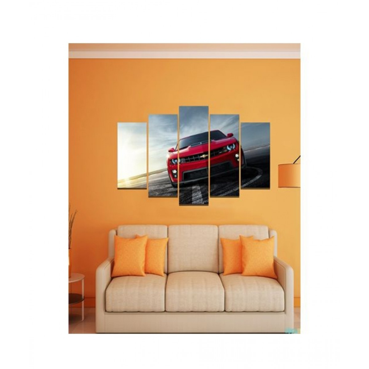 BednShines Printed Wall Canvas Frames Set of 5 Medium (EI-0578)