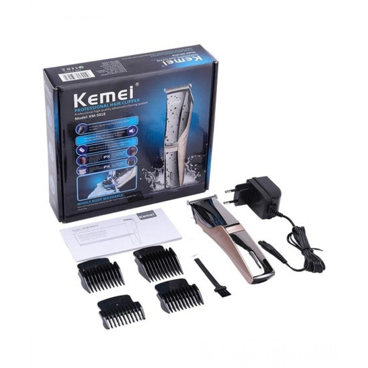Kemei Professional Hair Clipper & Trimmer (KM-5018)