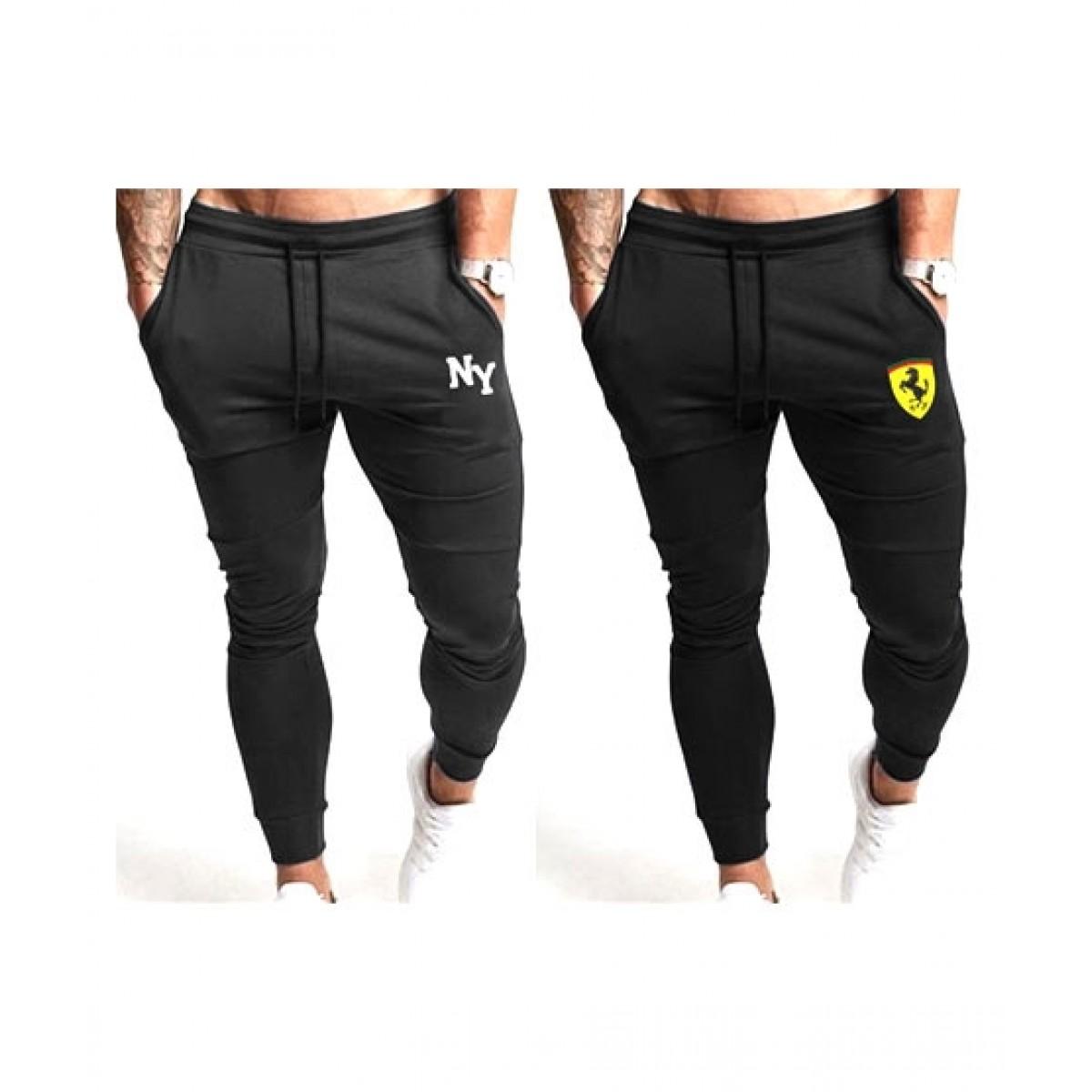 Jafri's Store Printed Fit Body Trouser For Men Pack of 2