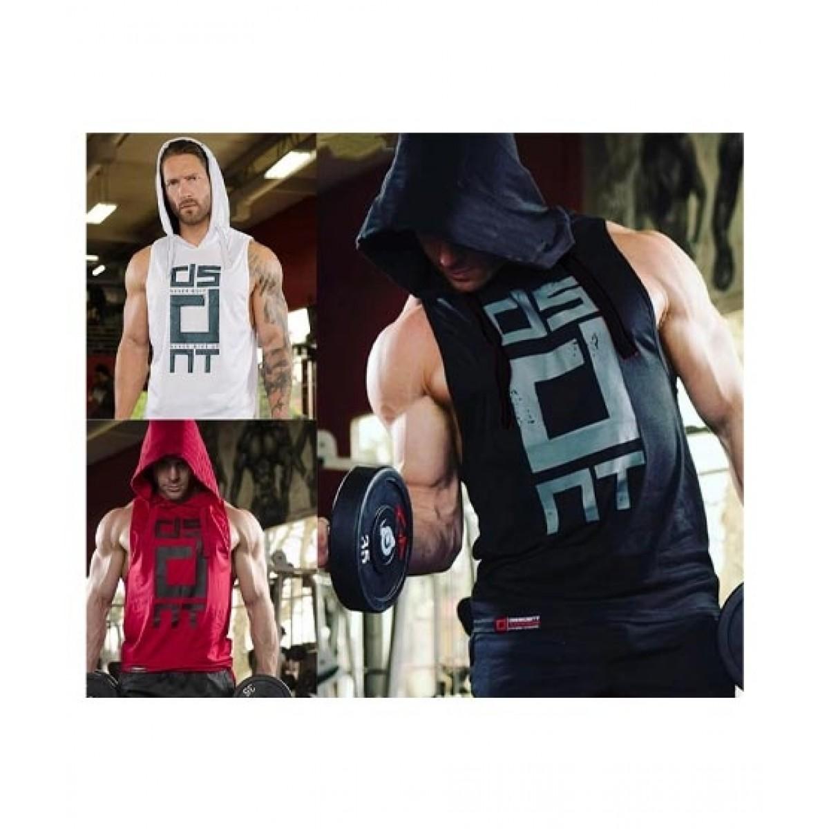 Jafri's Store Sleeveless Gym Hoodies For Men Pack of 3