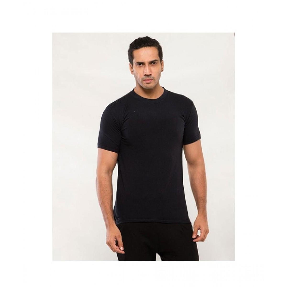 C-Tees Plain Black T-Shirt For Men (CKT10000)