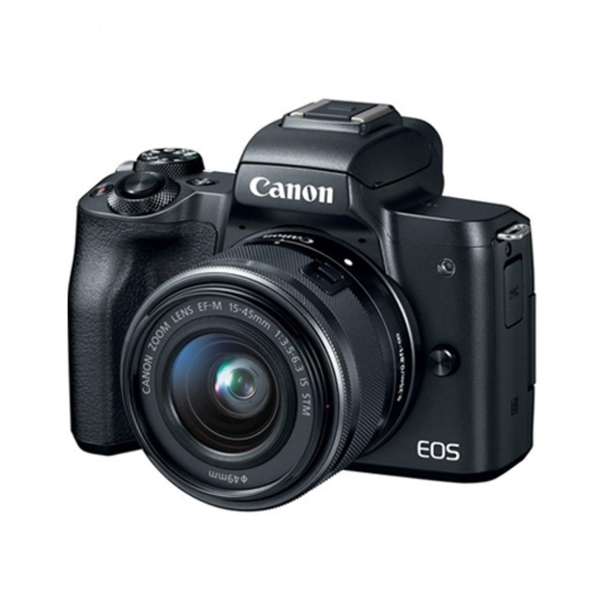 Canon EOS M50 Mirrorless Digital Camera With 15-45mm Lens Black - MBM Warranty