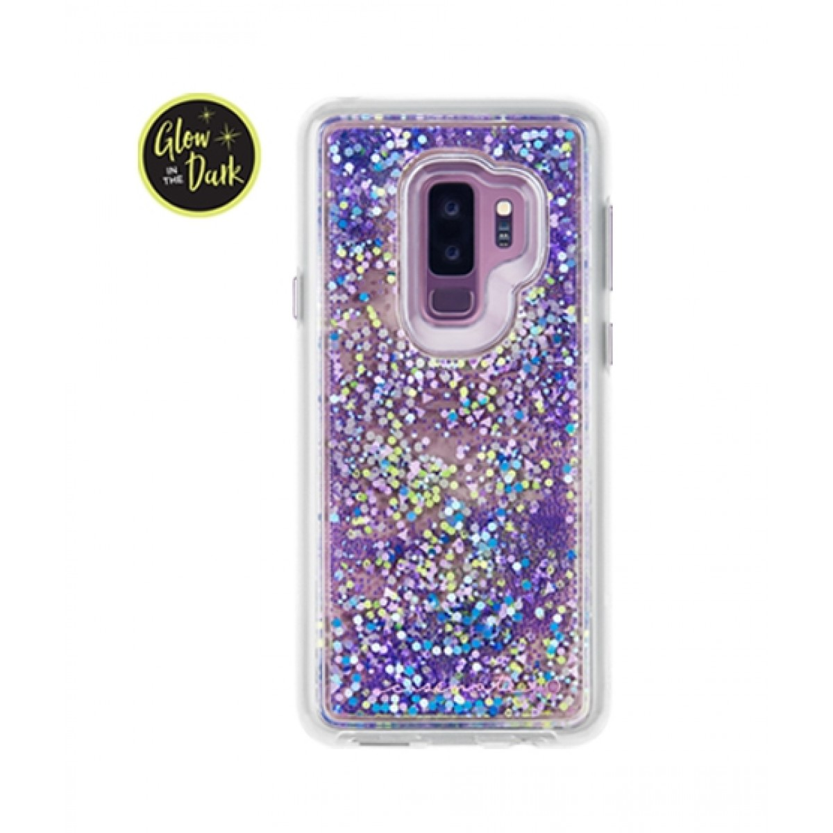 new arrival 7e0f7 8cf0b Case Mate Glow Waterfall Purple Case For Galaxy S9+