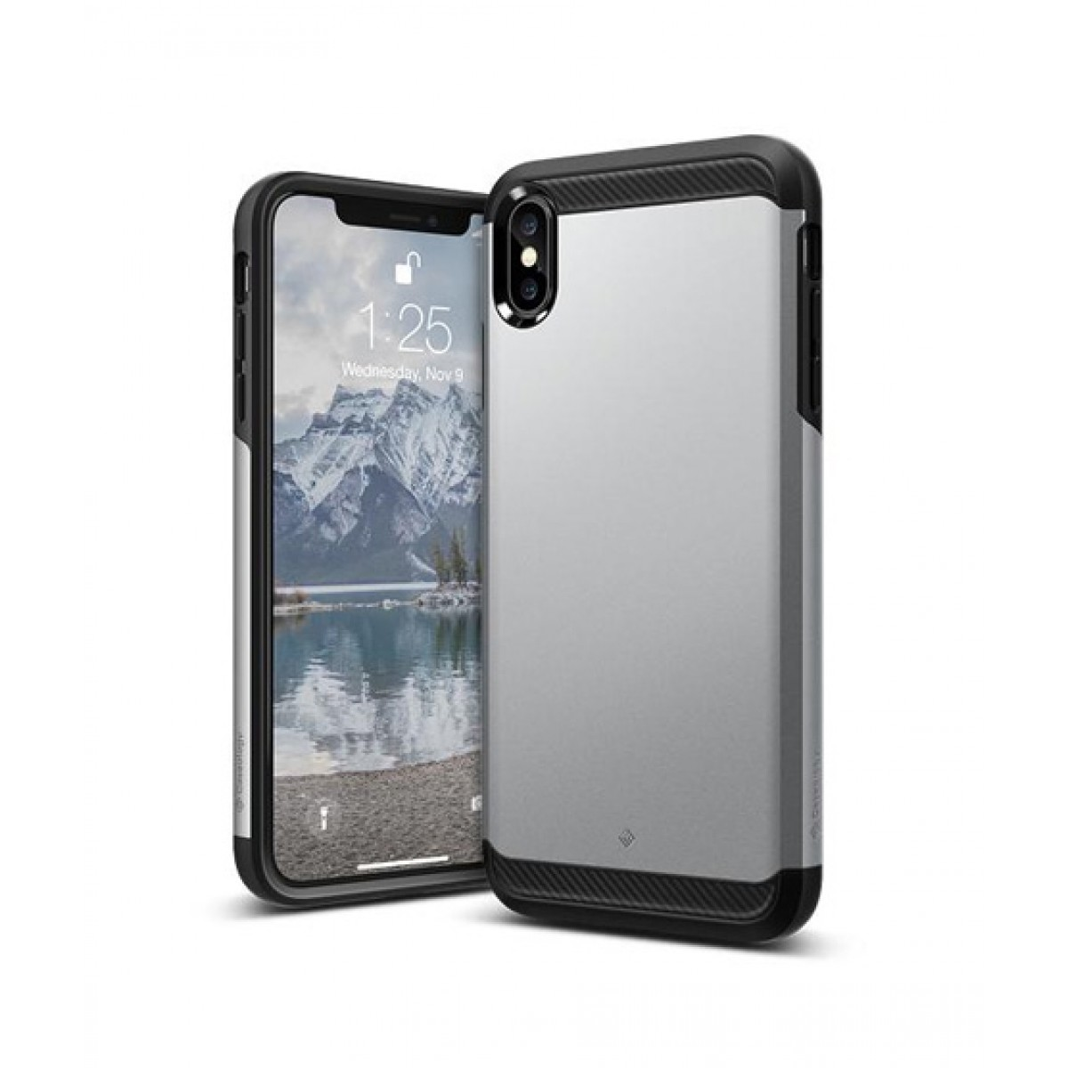 best service 05cb4 4fd79 Caseology Legion Silver Case For iPhone XS Max