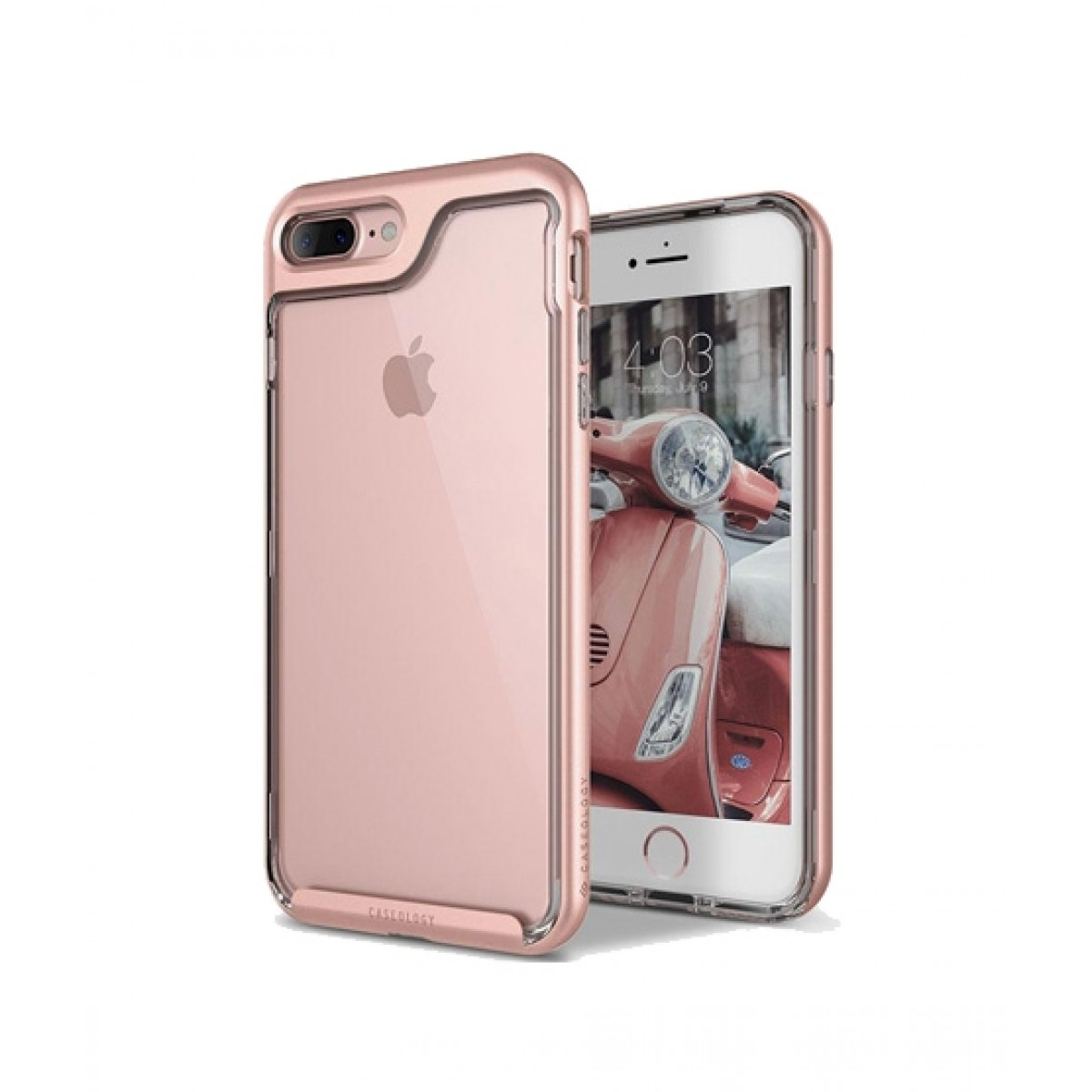 newest 199de a5230 Caseology Skyfall Rose Gold Case For iPhone 8 Plus