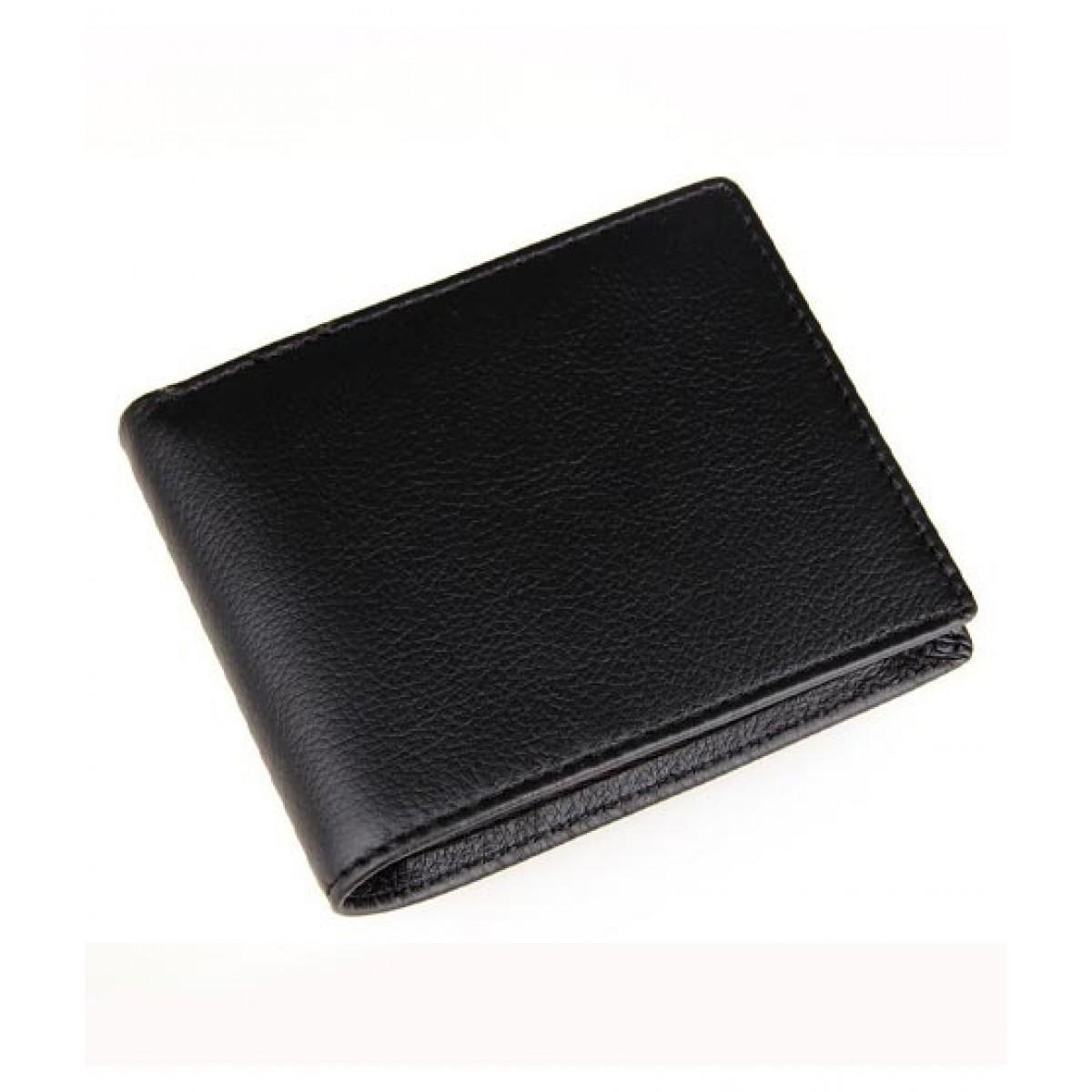 Afreeto Leather Wallet For Men Black (0068)