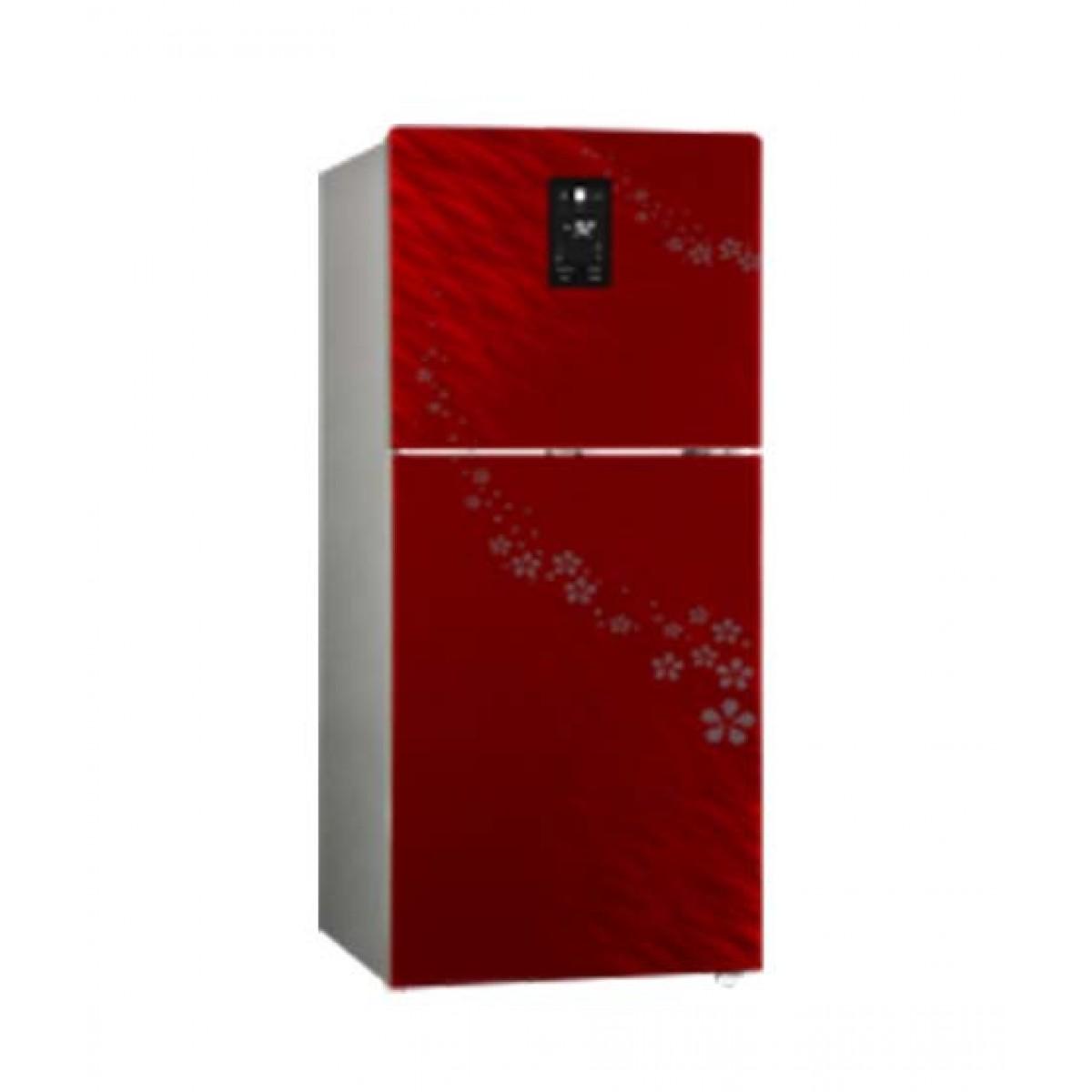 Changhong Ruba Double Door Direct Cool Smart DC Inverter Refrigerator 11 cu ft Red (CHR-DD308GPR)