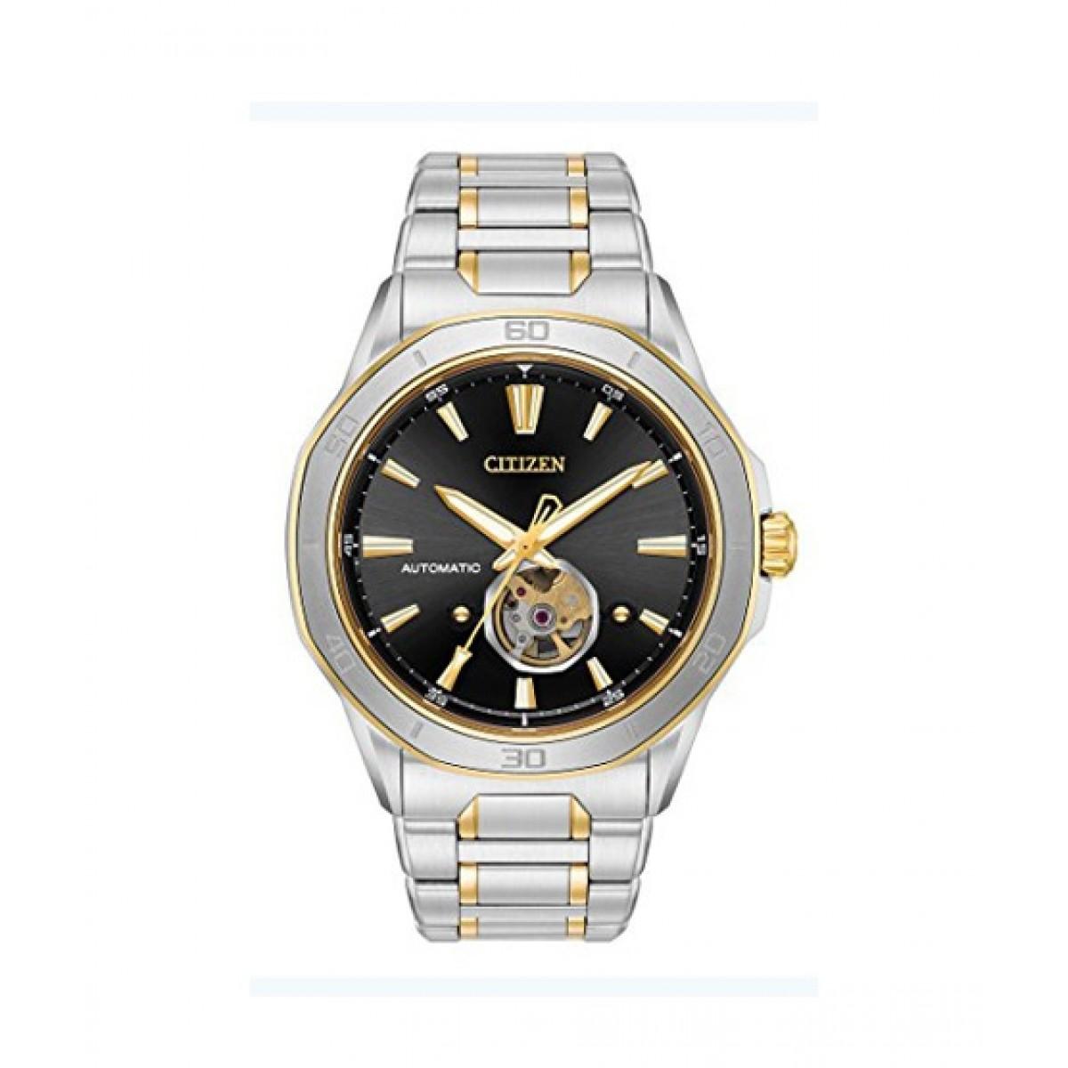 Citizen Signature Mechanical Hand Wind Men S Watch Silver Nb4014 56e