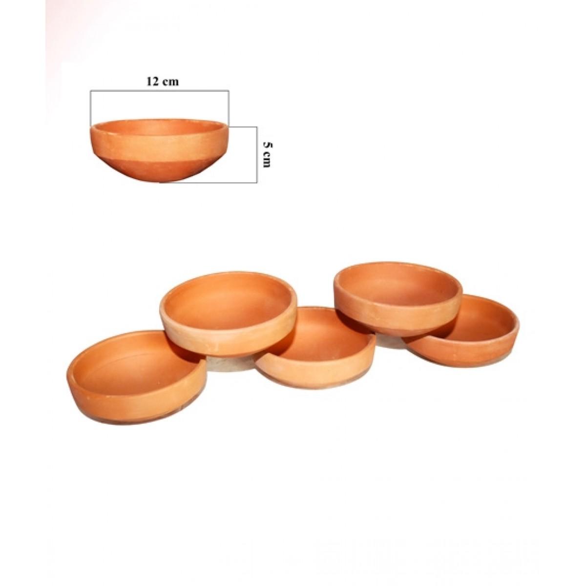 Clay Potter Clay Bowls Set 5 Pcs