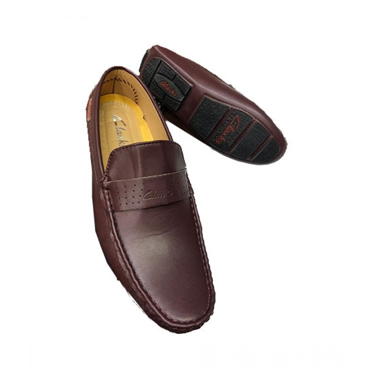 Clothink Casual Loafers For Men Brown