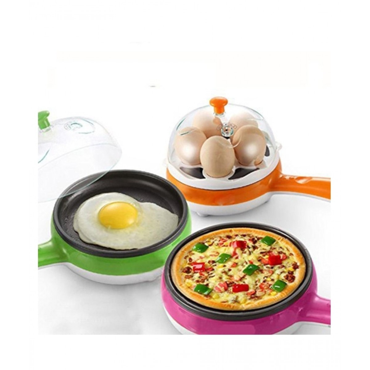 Cool Boy Mart Versatile Frying Pan And Egg Boiler